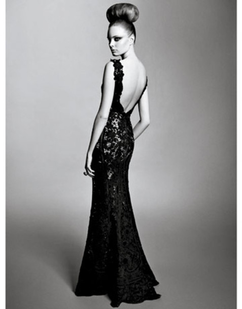 dress, prom, prom dress, backless, backless dress, black dress ...