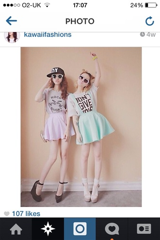 skirt cute pretty pastel lace t-shirt dress navy shoes black heels high heels pastel goth pastel grunge pastel creepers fashion icon tumblr tumblr girl instagram skater skirt