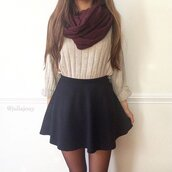 shirt,skirt,tan,red,cable knit,black,beige,purple,burgundy,beautiful,cute,outfit,outfit idea,sweater,cute outfits,fall outfits,grey sweater,oversized sweater,fall sweater,tan sweatshirt,knitted sweater,knitwear,knitted crop top,knit,knitted cardigan,cropped sweater,white sweater,cute sweaters,black and white,black skirt,skater skirt,mini skirt,midi skirt,midi skirt set,pleated skirt,circle skirt,white black skirt,scarf,infinity scarf,infinity,blanket scarf,burgundy scarf,burgundy accessories,accessories,Accessory,fall accessories,fall colors,autumn/winter,fall skirt,black skater skirt,cropped,crop tops,cropped shirt