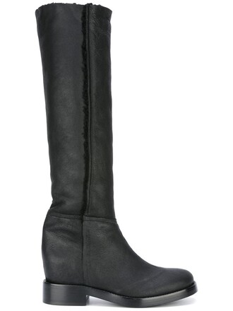 high women knee high boots knee high boots leather black shoes