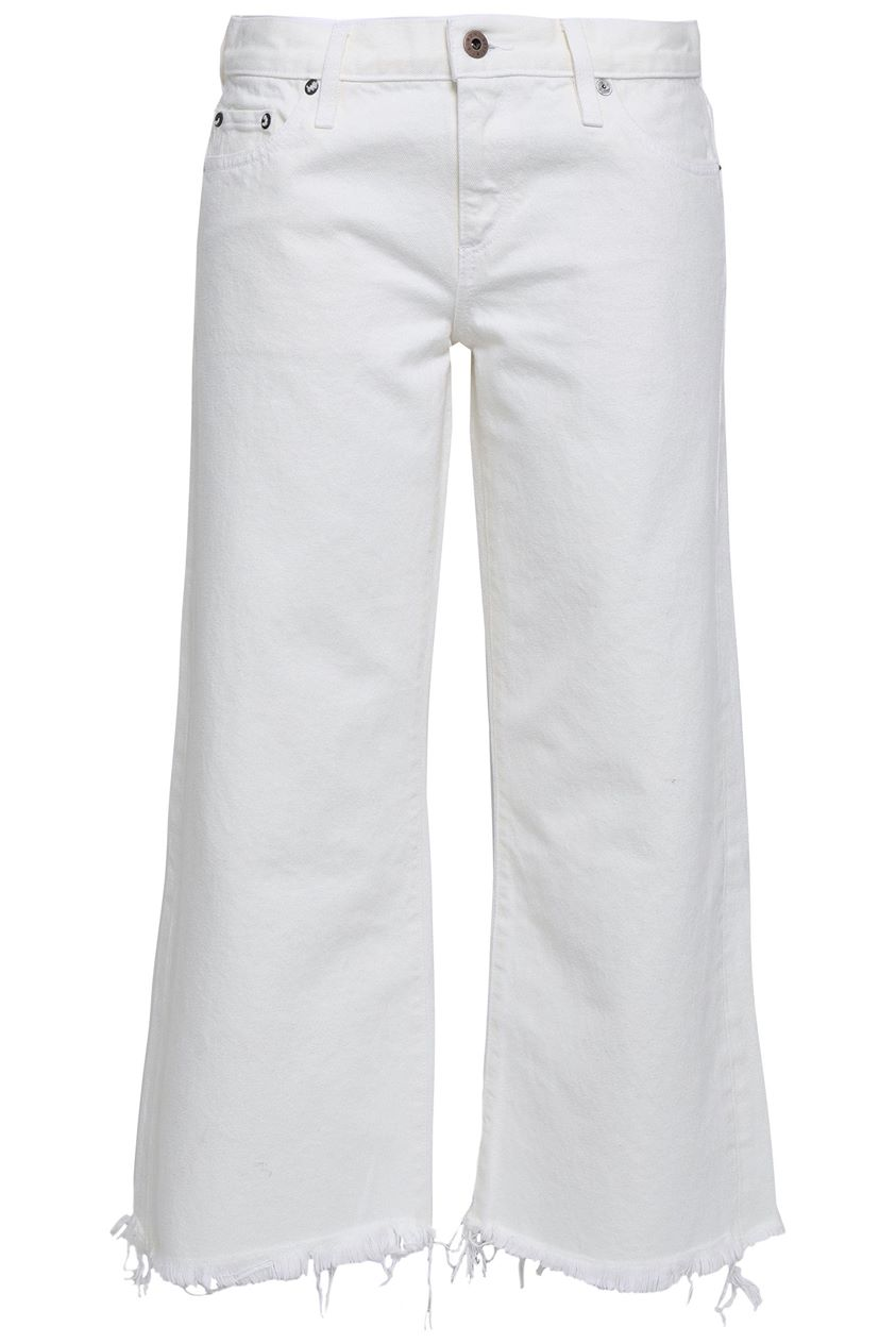 Simon Miller Woman Cropped Frayed Mid-rise Straight-leg Jeans Off-white Size 29