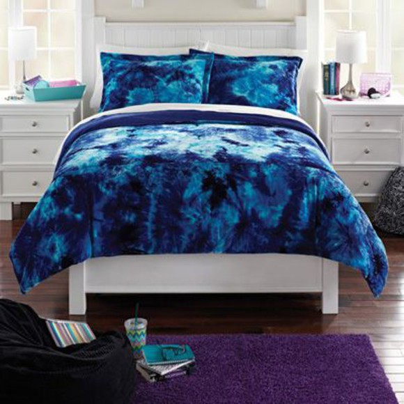 t-shirt tie dye bedding blue