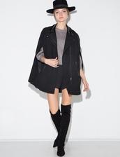 jacket,moto black cape,moto cape,cute jacket,chic,cape,fall jacket