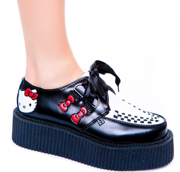 shoes creepers lovely pepa girly black white fashion