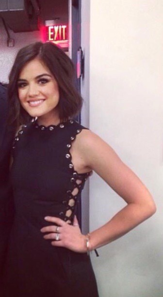 dress black dress lucy hale