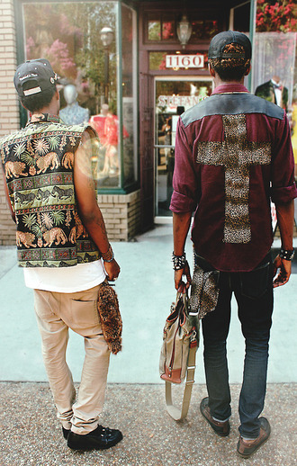 button up shirt style clothes fashion cross cool streetwear design swag male button up menswear fashion\ leopard print vintage t-shirt streetstyle old school dope guys streetwear oriental print print cargo pants snapbacks jacket