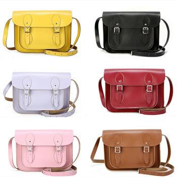 inch Genuine Leather Satchel Portfolio Women Men Messenger Bags ...