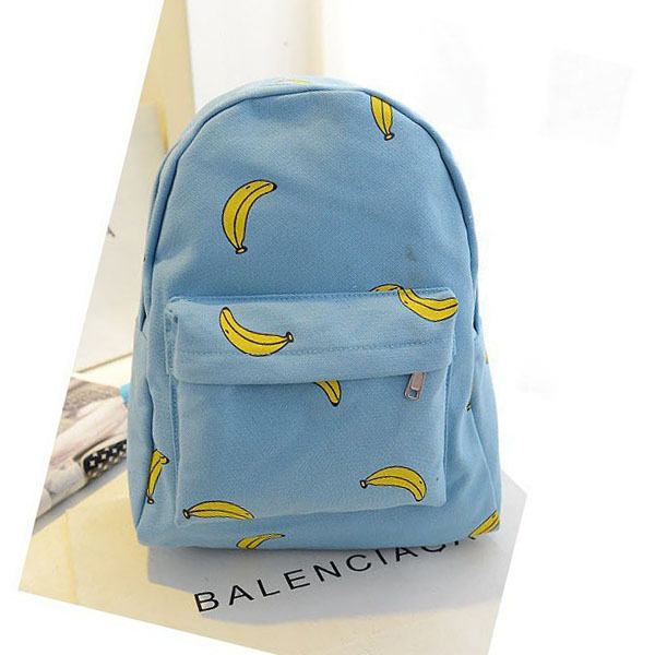 Wholesale rucksack Banana Popsicles hands onion pattern canvas shoulder bag and student backpack for girls and women bags-in Casual Daypacks from Luggage & Bags on Aliexpress.com