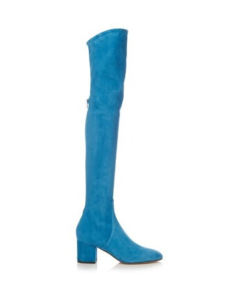 boots suede boots suede blue shoes