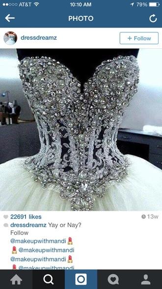 dress boustier jewels diamonds sweetheart dress sweet 16 dresses quinceanera dress beautiful blouse vintage pants jeans converse