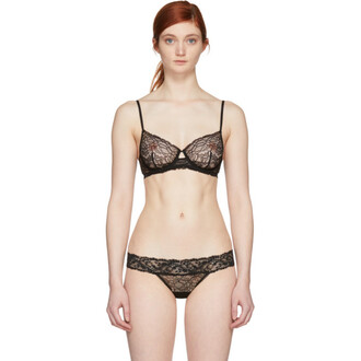 bra lace black underwear