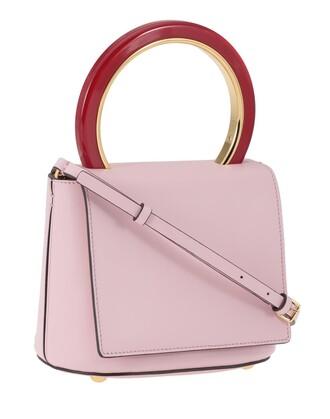 handbag leather rose bag