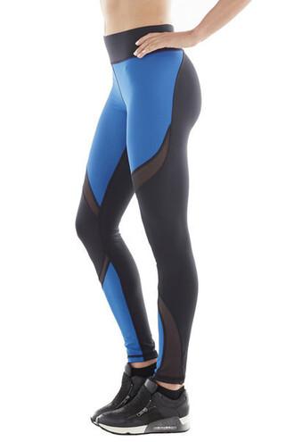 leggings michi ocean blue high end activewear bikiniluxe