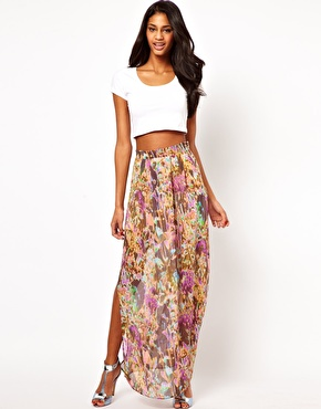 Oh My Love | Falda larga con estampado de flores largas de Oh My Love en ASOS