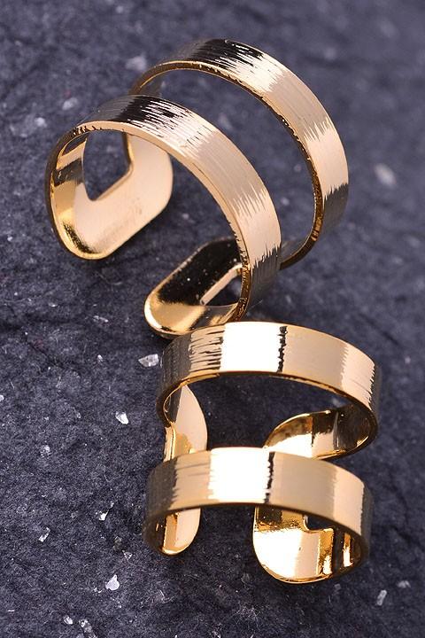Gold cutout ring