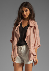 jacket,pink,dusty pink,light pink,loose