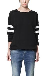 Zara 'Black White' Sweatshirt Jumper Size M Medium | eBay