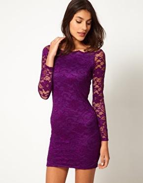 [grhmf260002055]Sexy Slim Boat Neck Lace Dress