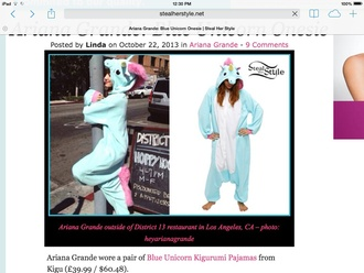 jumpsuit unicorn cute ariana grande
