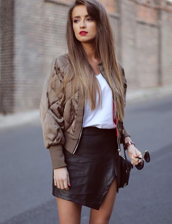 Leather Mini Skirt Outfit - Dress Ala