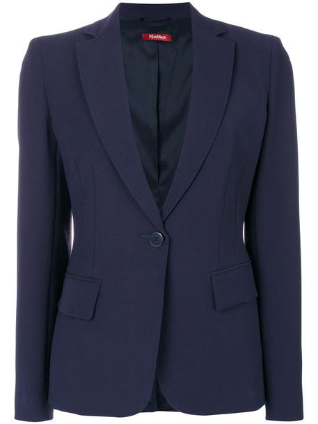 Max Mara Studio blazer women blue wool jacket