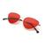 Oval Shaped Flat Lens Sunglasses -SheIn(Sheinside)