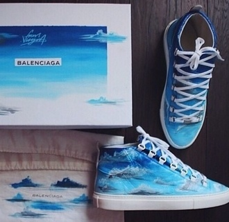 shoes blue white sky blue sky clouds clouds. white shoes blue sneakers blue shoes white sneakers bright blue