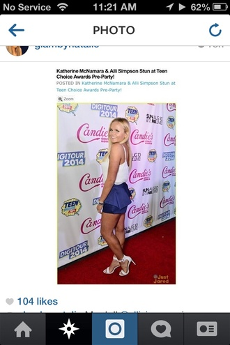 alli simpson make-up style outfit teen choice awards 2014 jewels beautiful hair