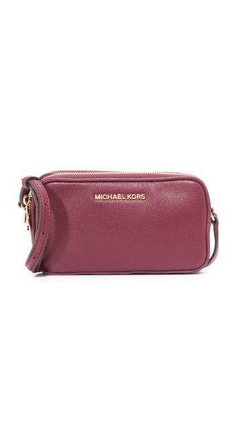 Michael Michael Kors Bedford Double Zip Cross Body Bag - Plum