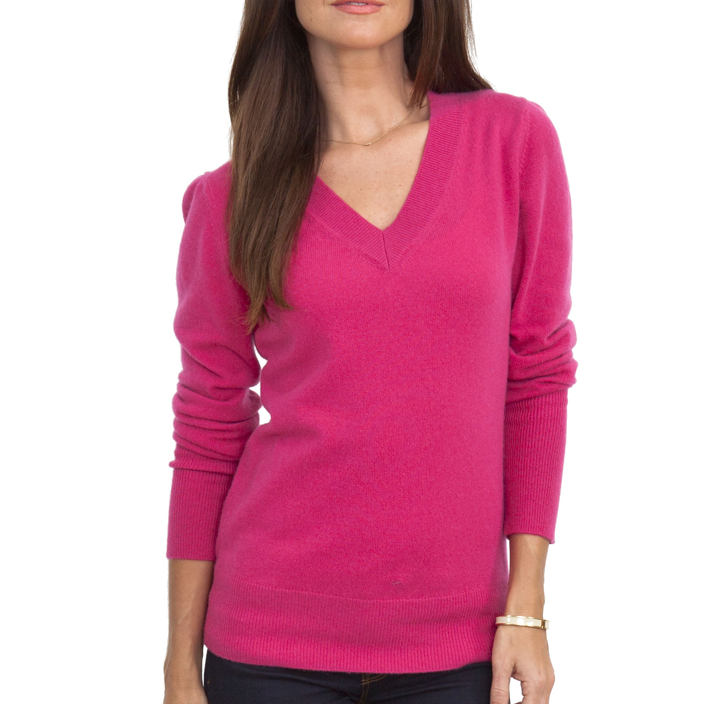 100% CASHMERE V-NECK SWEATER - Sweaters - Women