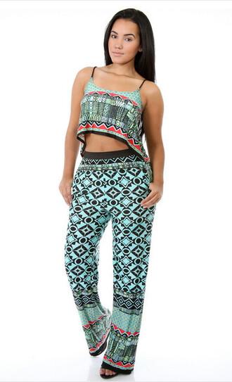 dress clothes pants printed pants 2 piece pants set cross