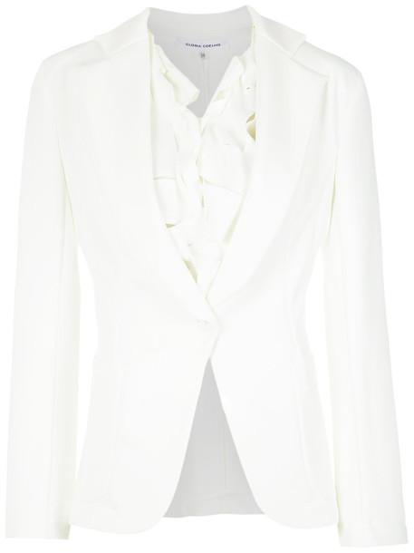 Gloria Coelho blazer women spandex white jacket