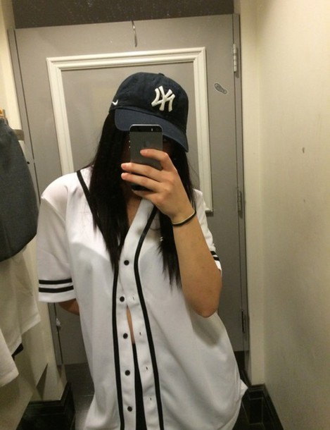 Shirt baseball baseball jersey top button up shirt t for Baseball button up t shirt dress