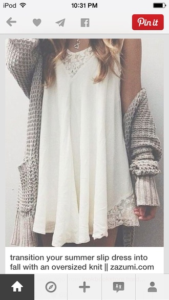 grey knit loose cardigan sweater oversized sweater