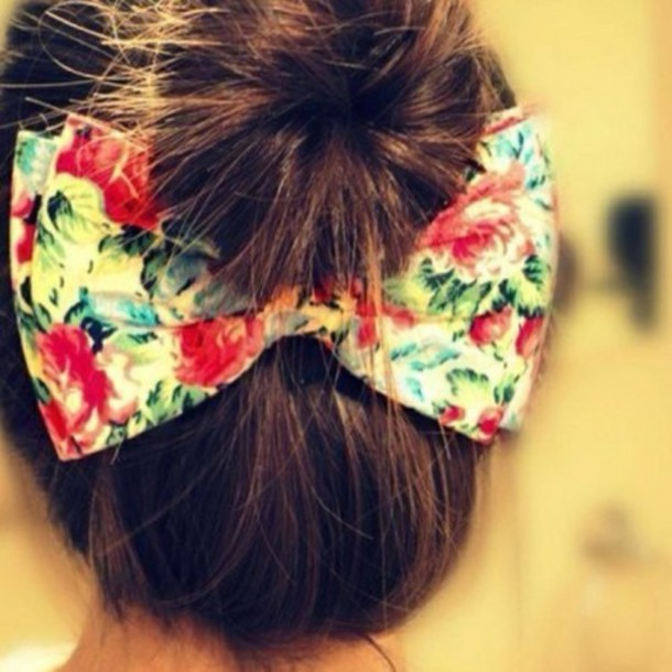 jewels big bow hair bow bows floral bag