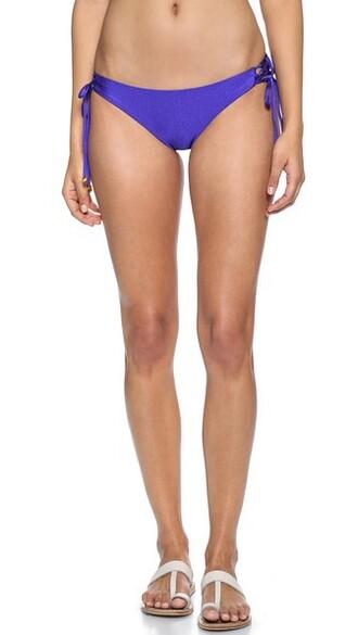 bikini bikini bottoms lace blue swimwear