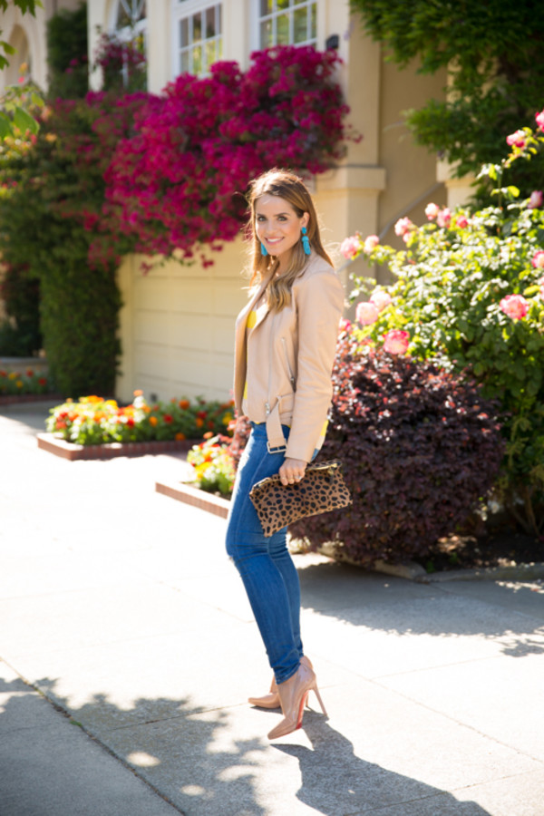 gal meets glam jacket jeans bag shoes jewels