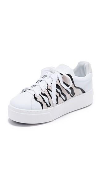 sneakers platform sneakers blanc shoes