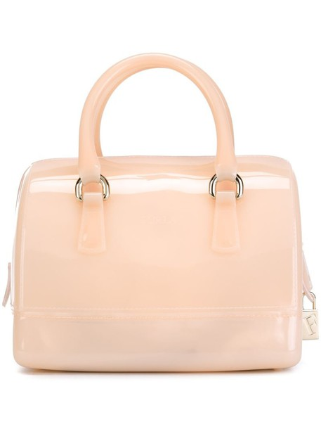 Furla - Candy Sweetie tote - women - PVC - One Size, Nude/Neutrals, PVC