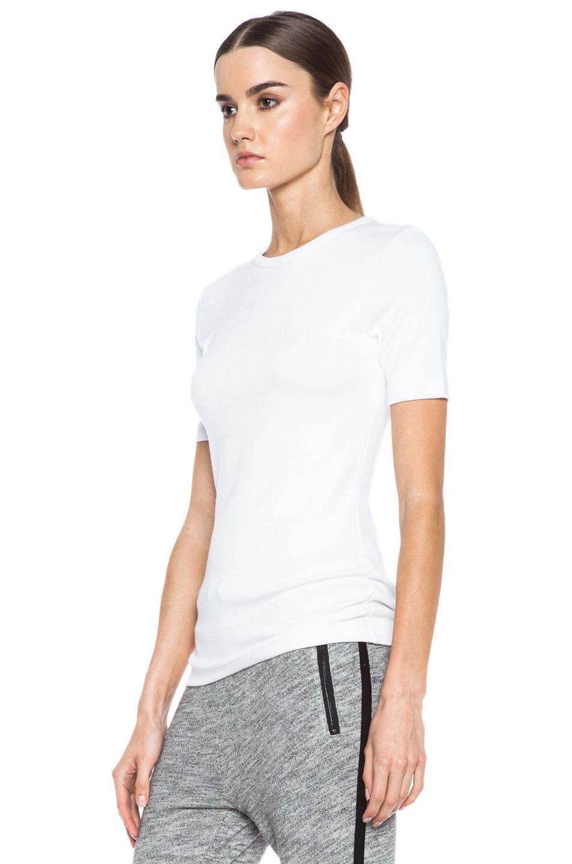 rag & bone|Dakota Rib Knit Tee in Bright White