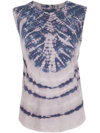 top sleeveless blue