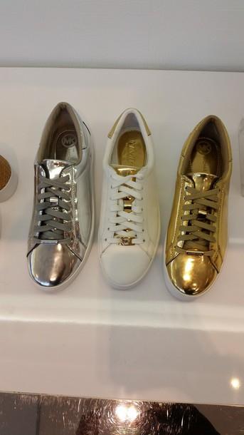 shoes gold shoes white shoes silver shoes michael kors. Black Bedroom Furniture Sets. Home Design Ideas