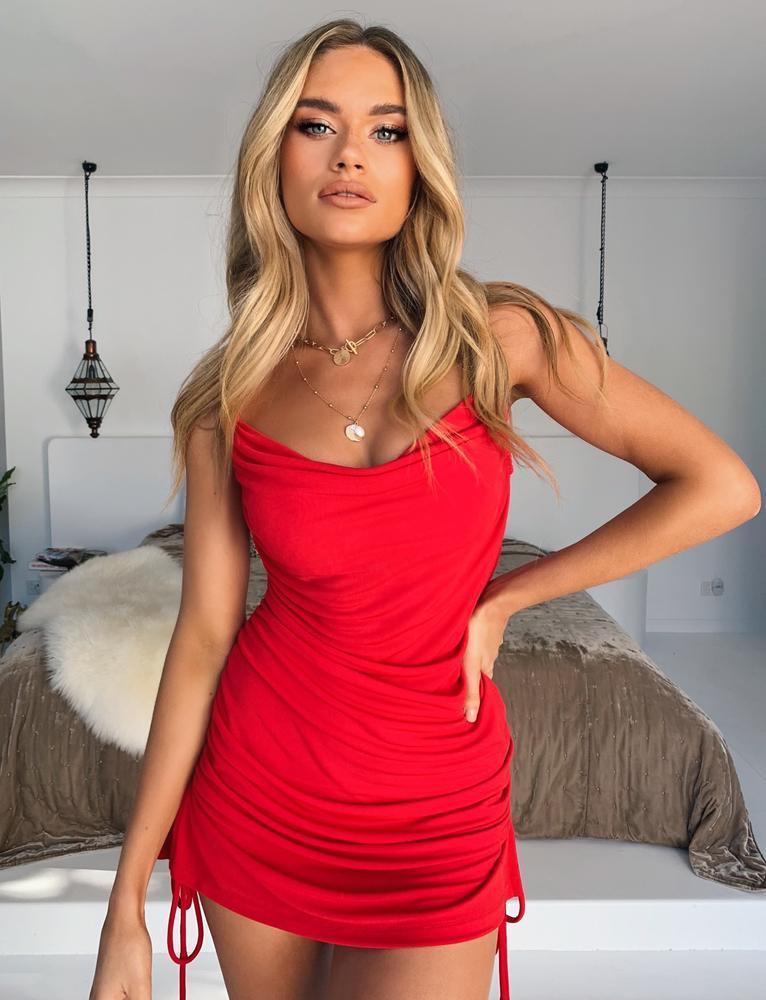 Porto Dress - Red - S RED