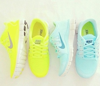 shoes neon nike bling shoes awesome!