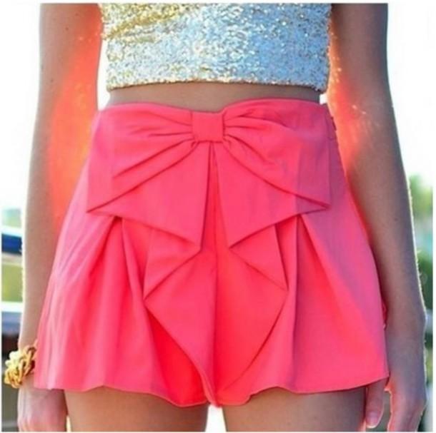 shorts summer dress summer outfits bows pink girly party dress party outfits girl girly wishlist
