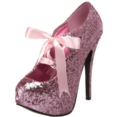 Amazon.com: Bordello by Pleaser Women's Teeze 10 Glitter Platform Pump: Viva Bordello: Shoes