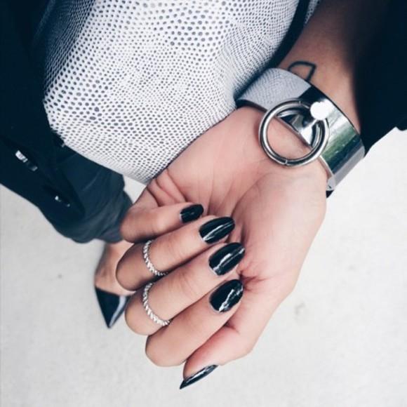 jewels bracelets o-ring ring cuffed bracelets