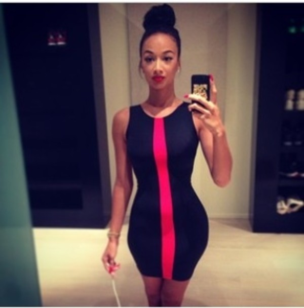 dress draya michele black dress redline red black black dress draya michele