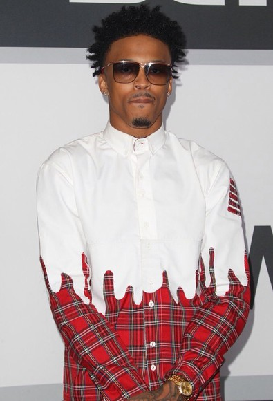 mens shirt menswear august alsina two colour bet awards flannel shirt