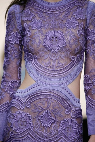 dress lace dress long sleeve lace dress long sleeve lace dresses tumblr outfit tumblr dress purple purple dress embroidered
